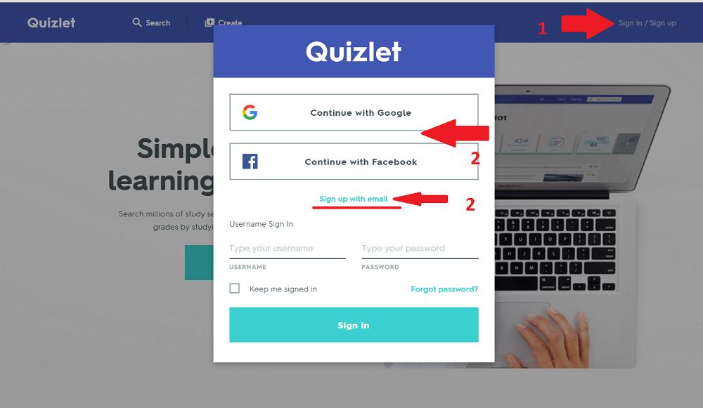 quizlet-login