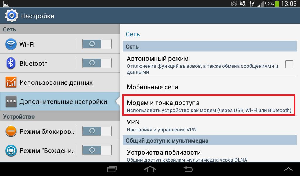 Samsung Модем и точка доступа