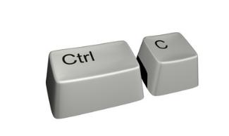 Копирование Ctrl+C