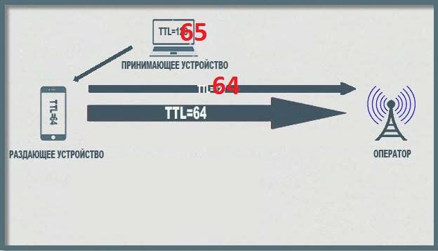 Что нам надо - TTL=65 на компьютере